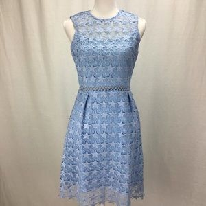 Maison Jules Star Pattern Lace Fit Flare Light Blu